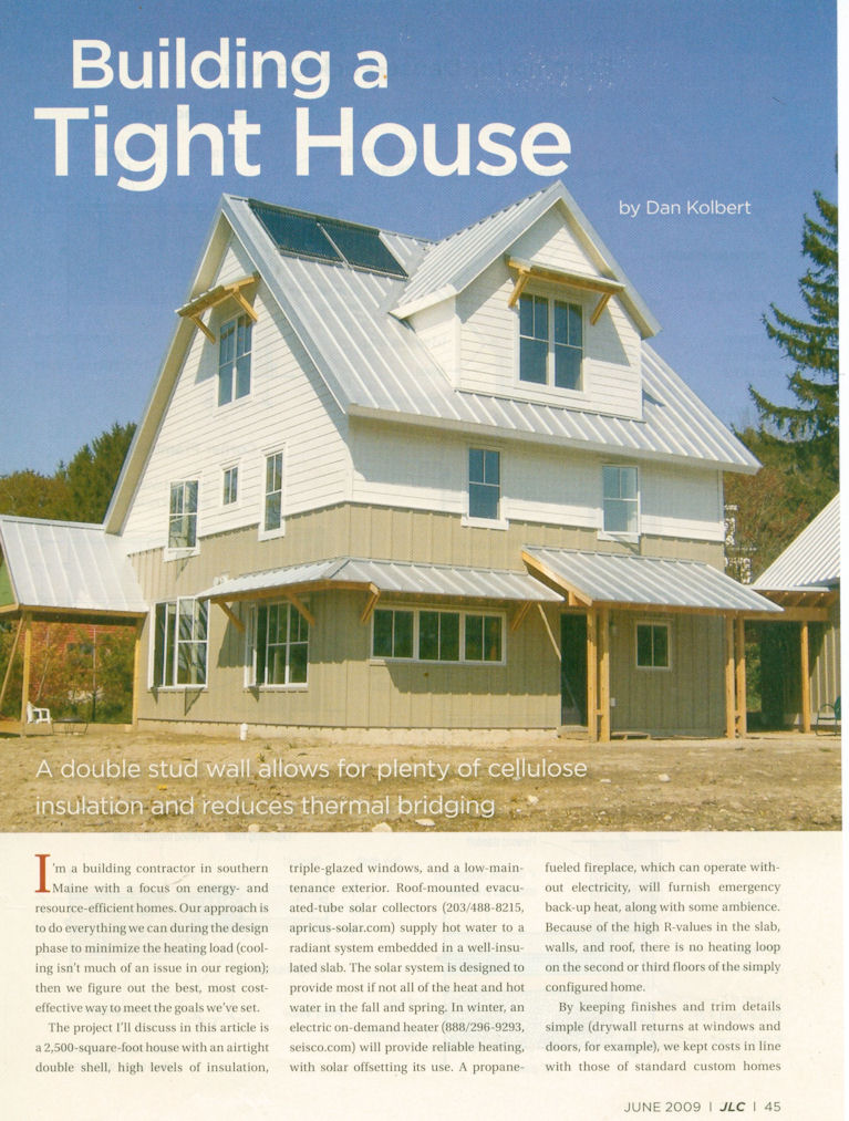 JLC - Building A Tight Home Article Page 1